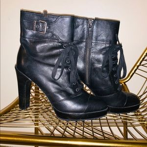 🖤🖤 Diesel Black lace-up Heel boot! Size 40!!!